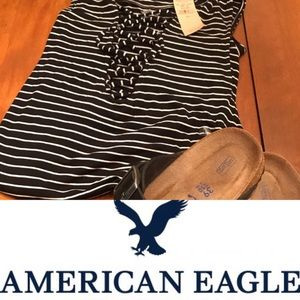 American Eagle lace up tank top❤️